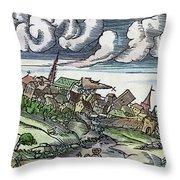 Earthquake, 1550 Throw Pillow