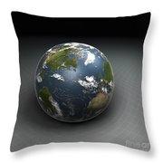 Earths Gravity Throw Pillow