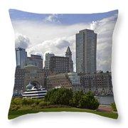East Boston Harbor Throw Pillow
