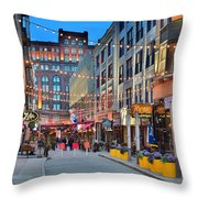 East Fourth Street In Cleveland Throw Pillow