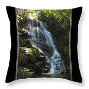 Eastatoe Falls North Carolina Throw Pillow