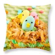 Easter Cupcakes  Throw Pillow
