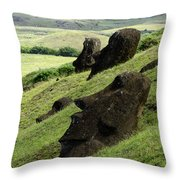 Easter Island 17 Throw Pillow