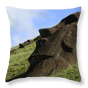 Easter Island 18 Throw Pillow