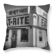 Eat Rite Diner Route 66 Throw Pillow
