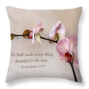 Ecclesiastes 3 11 He Hath Made Everything Beautiful Throw Pillow