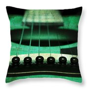 Edgy Abstract Eclectic Guitar 15 Throw Pillow by Andee Design