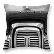 Edsel Corsair Grille Emblem Throw Pillow