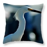Egret Of Matlacha 2 Throw Pillow