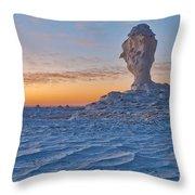 Egytians White Desert Throw Pillow