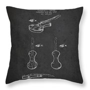 Electric Violin Patent Drawing From 1960 Throw Pillow