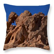 Elephant Rock Valley Of Fire State Park Nevada Throw Pillow