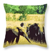 Elephants Throw Pillow