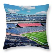 Elevated View Of Gillette Stadium, Home Throw Pillow
