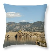 Eleven Mile State Park Throw Pillow