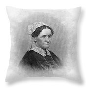Eliza Mccardle Johnson (1810-1876) Throw Pillow