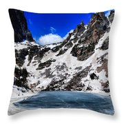 Emerald Lake In Rocky Mountain National Park Throw Pillow