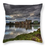 Emerald Lakes Throw Pillow