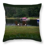 Empty Chairs Throw Pillow