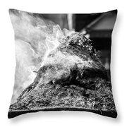 Encens Burning Throw Pillow
