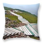 End Of Skyline Trail In Cape Breton Highlands Np-ns Throw Pillow