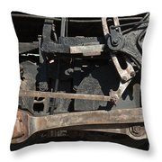 Engine 491 In The Colorado Railroad Museum Throw Pillow