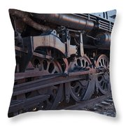 Engine 5629 In The Colorado Railroad Museum Throw Pillow
