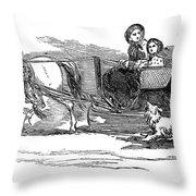 England Royal Sledge, 1854 Throw Pillow