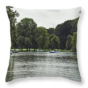 English Garden Munich Germany Throw Pillow