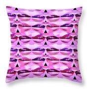 Enjoy Bliss Of Artistic Sensual Aura Lips  Kiss Romance Pattern Digital Graphic Signature   Art  Nav Throw Pillow