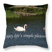 Enjoy Lifes Simple Pleasures Throw Pillow
