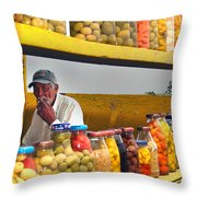 Ensenada Olive Stand 04 Throw Pillow
