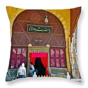 Entry To Mevlana Mausoleum In Konya-turkey  Throw Pillow
