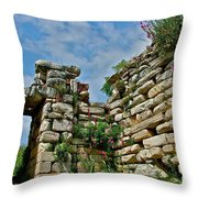 Entry To Saint John's Basilica Grounds In Selcuk-turkey Throw Pillow