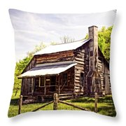 Erbie Homestead Throw Pillow by Marty Koch