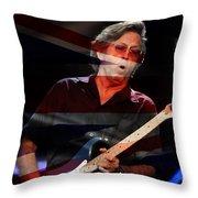 Eric Clapton Throw Pillow