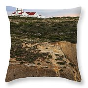 Espichel Cape Lighthouse Throw Pillow