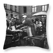 Europe Market, C1910 Throw Pillow