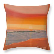 Evening At Mission Beach Throw Pillow