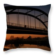 Evening Panoramic View On Pottes - Belgium Throw Pillow