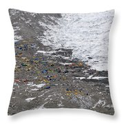 Everest - Khumbu Icefall, Nepal Throw Pillow