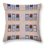 Evergreen Christmas Wreaths Throw Pillow