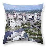 Exploration Place Throw Pillow