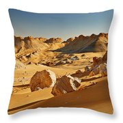 Expressive Landscape With Mountains In Egyptian Desert  Throw Pillow