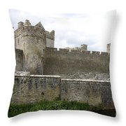 Exterior Of Cahir Castle Throw Pillow