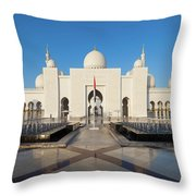 Exterior View Of Sheikh Zayed Grand Throw Pillow