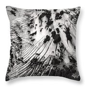 Eyjafjallajokull Glacier And Ashes  Throw Pillow