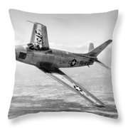 F-86 Sabre, First Swept-wing Fighter Throw Pillow