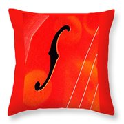 F Hole Abstract Throw Pillow