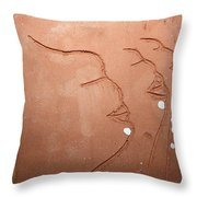 Faces - Tile Throw Pillow